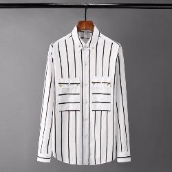 108541 유니크 스컬 리벳 포인트 스트라이프 셔츠