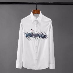 108519 유니크 체스트 드로잉 프린팅 셔츠