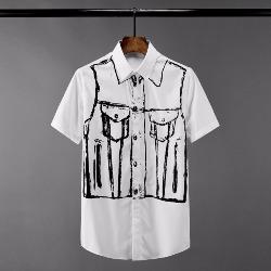 108544 데님라인 그래피티 포인트 반팔 셔츠