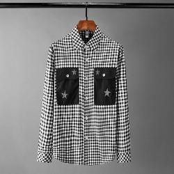 108539 유니크 체스트 포켓 포인트 체크 셔츠