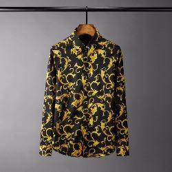 108557 고져스 로얄프린팅 히든버튼 셔츠