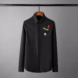 108563 유니크 체스트 미키패치 히든버튼 셔츠