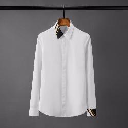 108577 유니크 언발란스 카라 소매 배색 히든버튼 셔츠