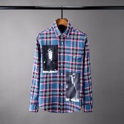 108583 유니크 컬러풀 플란넬 프린팅 캐주얼 셔츠