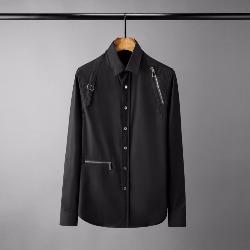 108580 유니크 지퍼 버클 포인트 하이엔드 셔츠