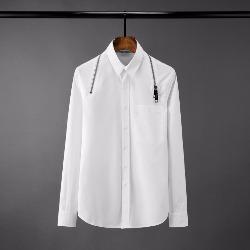 108579 유니크 숄더 지퍼라인 앞포켓 셔츠