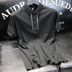 108731 스퀘어 스터드 포인트 반팔 티셔츠