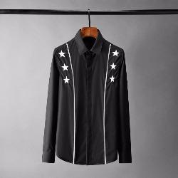 108807 유니크 입체 스타 자수 두줄 라인 포인트 셔츠