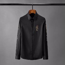 108812 에얼리언 스컬패치 소매 레터링 긴팔 셔츠