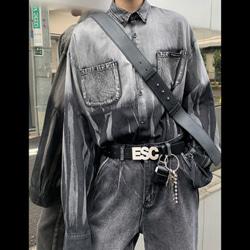 108748 스트릿 그라데이션 썬더 나염 긴팔 셔츠