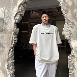 108784 유니크 파워숄더 오버핏 스트릿 반팔 티셔츠