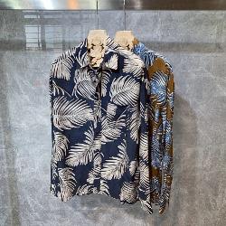 108821 유니크 팜트리 패턴 루즈핏 셔츠