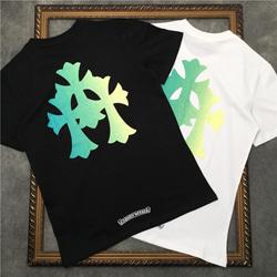 108867 유니크 릴리프 크로스 프린팅 스트릿 반팔 티셔츠