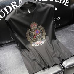 108907 유니크 로얄 크라운 프린팅 나시 티셔츠