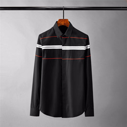 109040 유니크 가로 배색 라인 포인트 긴팔 셔츠