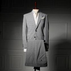 109209 모던 슬림핏 글렌체크 팬츠(Light Gray)