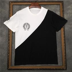 109182 사선배색 포인트 레터링 반팔 티셔츠