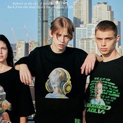 109184 유니크 헤드셋 베이비 반팔 티셔츠