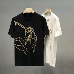 109187 유니크 유니콘 체인 자수 반팔 티셔츠