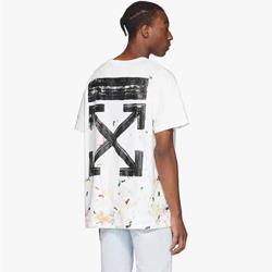 109727 유니크 트렌드 플라워 오프 티셔츠