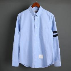 109578 옥스포드 두줄 완장 포인트 긴팔 셔츠