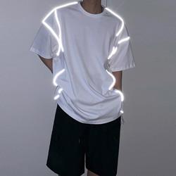 109482 리플렉션 스카치 라인 반팔 티셔츠