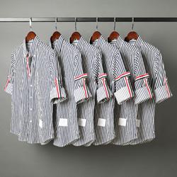 109547 시그니쳐 삼선 포인트 스트라이프 반팔 셔츠
