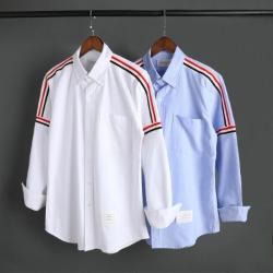 109577 옥스포드 삼선 어깨 라인 긴팔 셔츠
