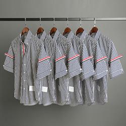 109538 시그니쳐 포인트 스트라이프 반팔 셔츠