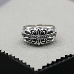 109354 시그니쳐 크로스 다이아몬드 실버 반지