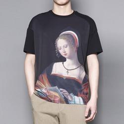 109645 유니크 마리아 프린팅 루즈핏 반팔 티셔츠