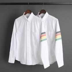 109566 시그니쳐 스티치 사선 완장 긴팔 셔츠