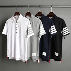 109542 사선 소매 완장 PK 반팔 니트 티셔츠