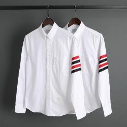 109574 시그니쳐 사선 배색 완장 긴팔 셔츠