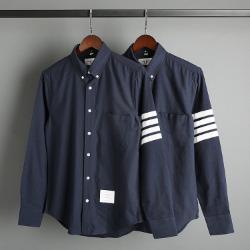 109583 옥스포드 사선 완장 포켓 긴팔 셔츠