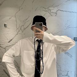 109499 오버핏 레이어드 7부 긴팔 셔츠