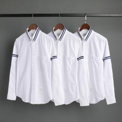 109579 옥스포드 두줄 카라 완장 라인 긴팔 셔츠