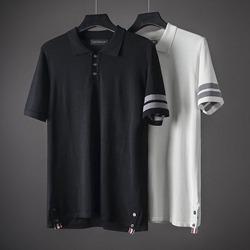 109594 두줄 라인 포인트 PK 카라 반팔 니트 티셔츠