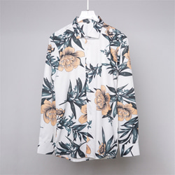 109616 화이트 로터스 프린팅 긴팔 셔츠