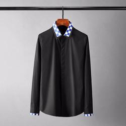 109449 스퀘어 카라 소매 덧댐 긴팔 셔츠