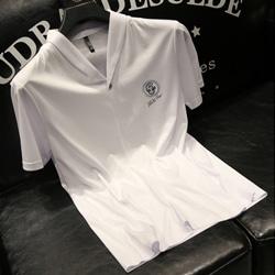 109301 유니크 숄카라 가슴패치 포인트 반팔 티셔츠