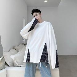 109969 에스닉 절개 레이어드 오버핏 긴팔 티셔츠