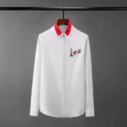 110097 카라배색 러브 히든버튼 긴팔 셔츠