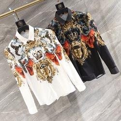 109882 로얄 바로크 라이언 컬러 크라운 슬림 긴팔셔츠