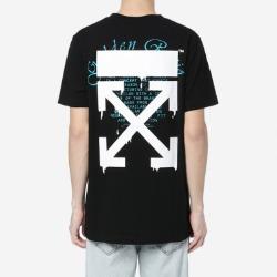 109932 레터링 에로우 라운드넥 반팔 티셔츠