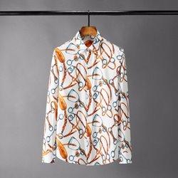 109756 유니크 컬러풀 락킹 프린팅 캐주얼 긴팔 셔츠