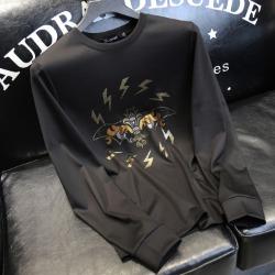 110161 썬더 대거 크로스 라운드넥 맨투맨 티셔츠