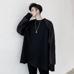 109985 셔츠 팔배색 레이어드 오버핏 긴팔 티셔츠