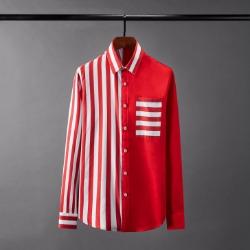 110094 볼드 스트라이프 배색 포인트 긴팔 셔츠