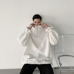 110099 소매 벨트 포인트 하이넥 집업 긴팔 티셔츠